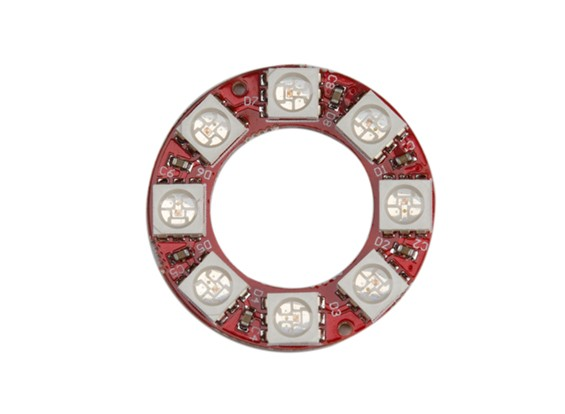 Киз носимого WS2812 8 Светодиодные полноцветные 5050 модуль RGB LED кольцо