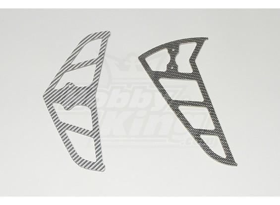 Серый углеродного волокна Ласты для Raptor 30/50 (2 мм)