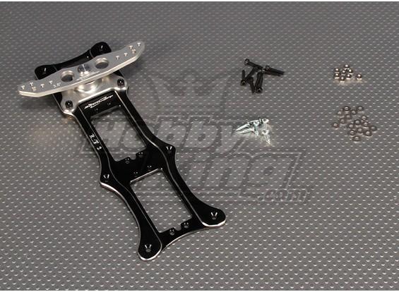 CNC Rudder 2 Tray 3.5 дюйма (# 4-40) Черный