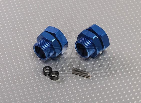Синий алюминиевые колеса Переходники 23mm Hex (2pc)