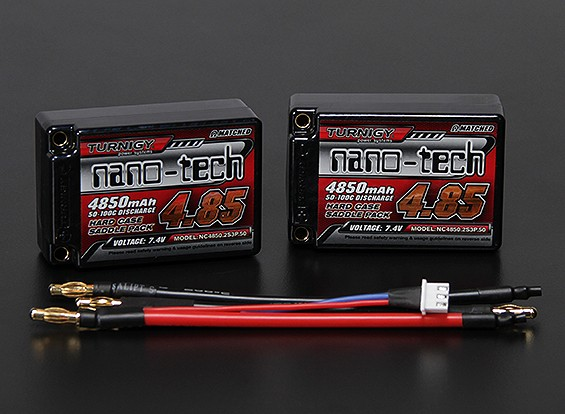 Turnigy нано-технологий 4850mah 2S3P 50 ~ 100C Hardcase Липо Седло Pack (ЕДОР ПРИНЯТО)