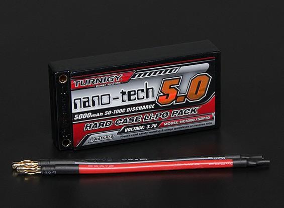 Turnigy нано-технологий 5000mAh 1S2P 50 ~ 100C Hardcase Липо Pack (ЕДОР ПРИНЯТО)