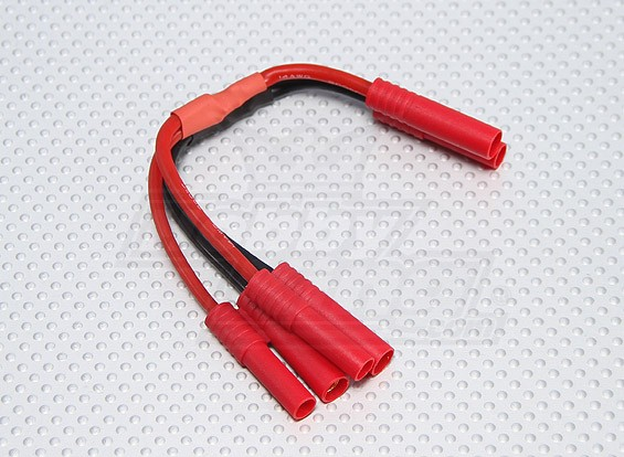 HXT4mm батареи жгута проводов 14AWG для 2-х пакетов в параллельных