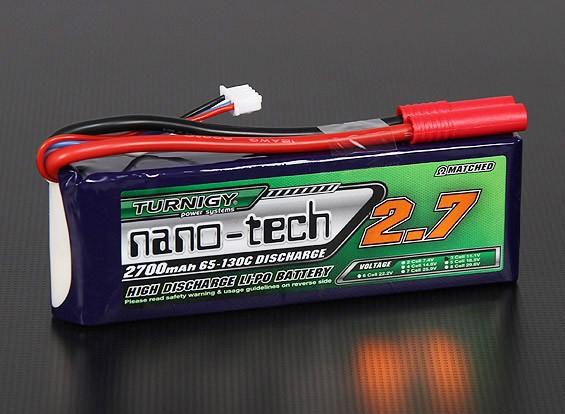 Turnigy нано-технологий 2700mAh 3S 65 ~ 130C Липо пакет