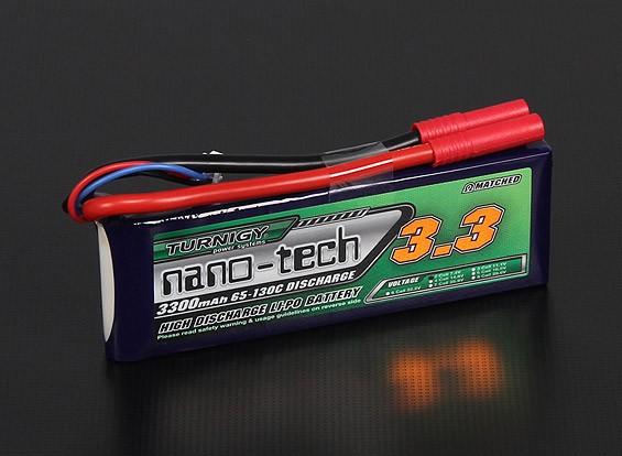 Turnigy нано-технологий 3300mAh 2S 65 ~ 130C Липо пакет