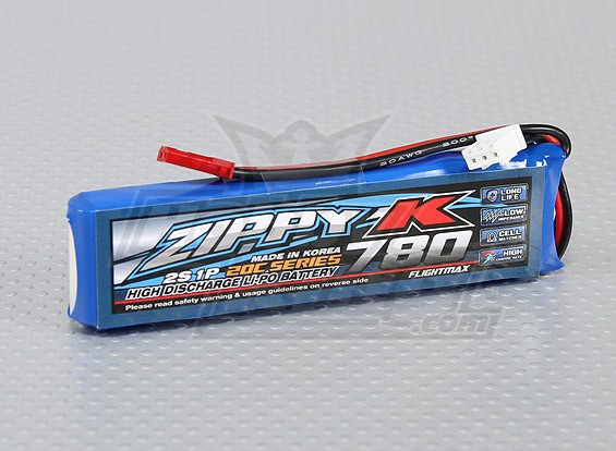 Батарея Zippy-K Flightmax 780mAh 20C 2S1P LiPoly