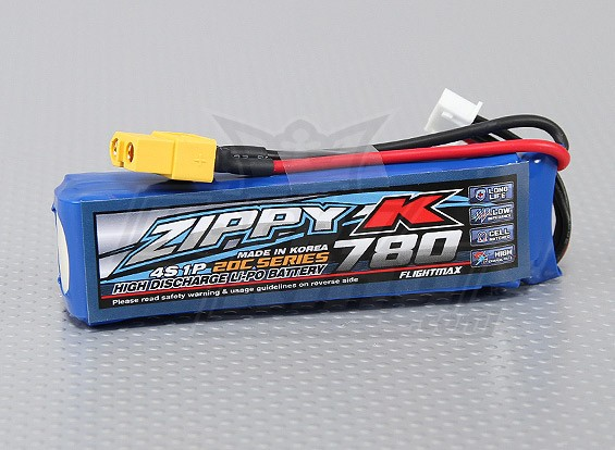 Батарея Zippy-K Flightmax 780mAh 20C 4S1P LiPoly