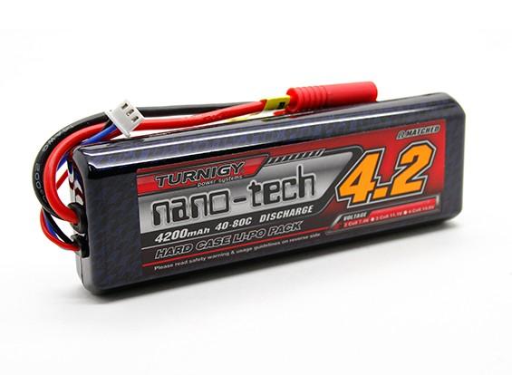 Turnigy нано-технологий 4200mAh 2S2P 40 ~ 80C (Hardcase Придерживайтесь Pack)