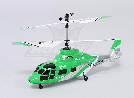 HK188 - 2.4Ghz Шкала Коаксиальный спасательный вертолет ж / светодиодные фонари - M1