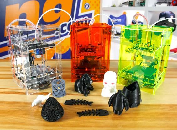 Mini Fabrikator 3D принтер крошечными Boy - Прозрачный - US 110V