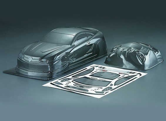 Carlsson C25 1/10 углеродного волокна Стиль автомобиля Shell кузова (190мм)