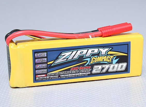 ZIPPY Компактный 2700mAh 4S 25C Lipo обновления