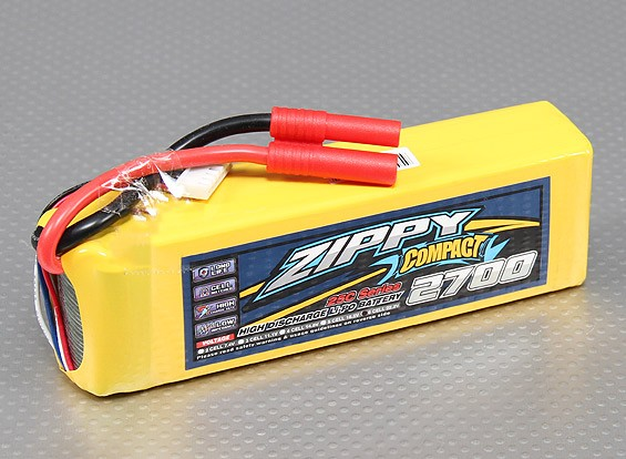 ZIPPY Компактный 2700mAh 6S 25C Lipo обновления