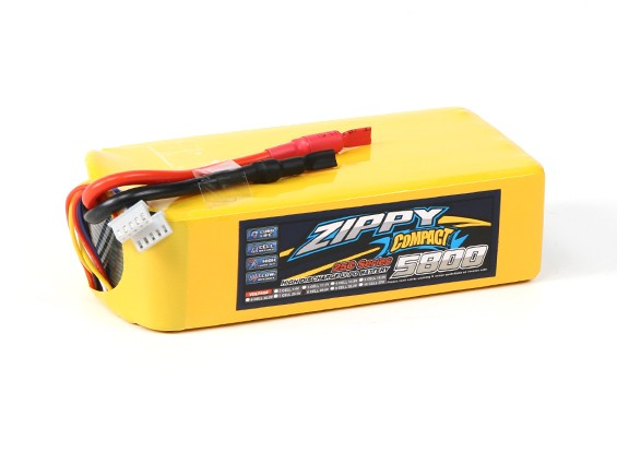 ZIPPY Компактный 5800mAh 8S 25C Lipo обновления