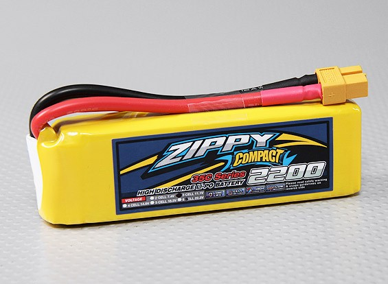 ZIPPY Компактный 2200mAh 3S 35C Lipo обновления