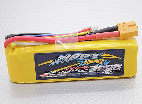 ZIPPY Компактный 2200mAh 4S 35C Lipo обновления