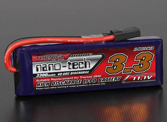 Turnigy нано-технологий 3300mAh 3S 40 ~ 80C Lipo Pack (Slash / Rustler / Бандит / Stampede совместимый)
