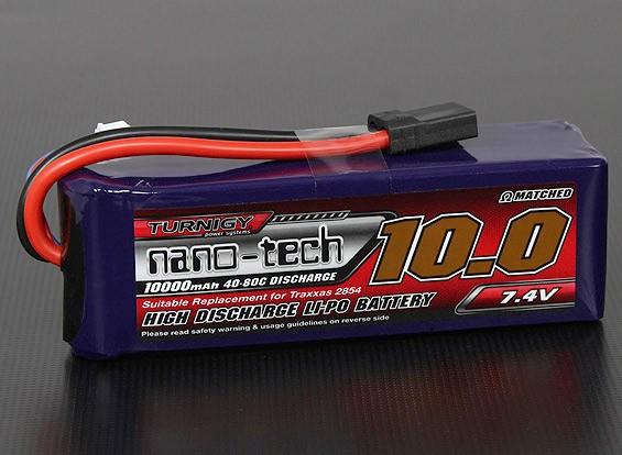 Turnigy нано-технологий 10000mAh 2S 40 ~ 80C Lipo Pack (Stampede / Rustler / Бандит совместимый)
