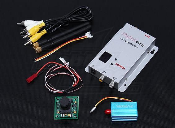 2.4GHZ 100mW Tx / Rx & 1/3-дюймовый CCD камера PAL (520TV линия)