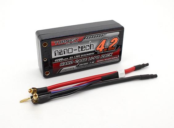 Turnigy нано-технологий Коротышка 4200mAh 2S2P 65 ~ 130C Hardcase Липо Pack (ЕДОР ПРИНЯТО)