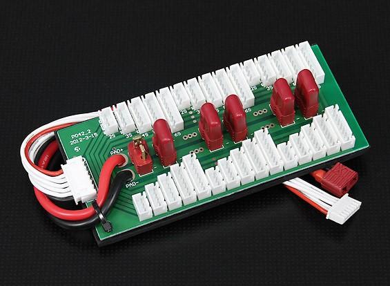 Параллельно зарядки совет по 6 пачек 2 ~ 6S (T Connector)