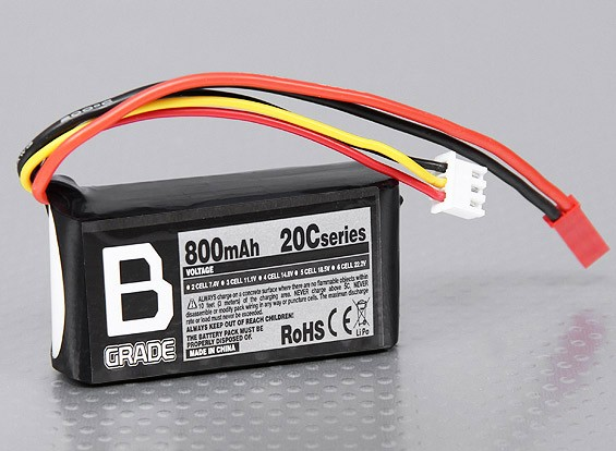 Аккумулятор B-Ранг 800mAh 2S 20C LiPoly