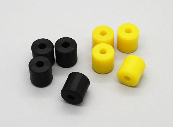 Шмель - Силиконовая гелеобразные Чехол (черный, желтый) (4шт / мешок)