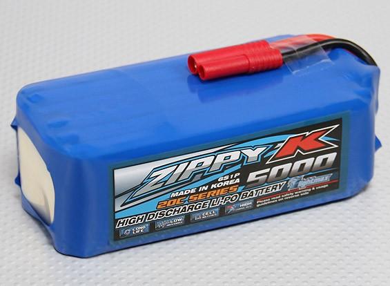 Батарея Zippy-K Flightmax 5000mAh 6S1P 20C LiPoly