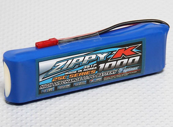Батарея Zippy-K Flightmax 1000mAh 3S1P 25C LiPoly
