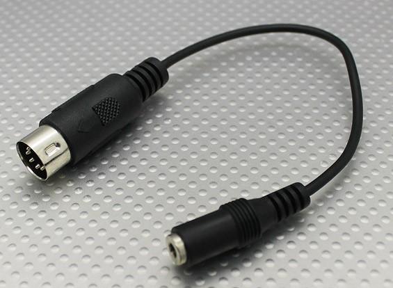 Мультиплекс передатчик Plug адаптер 3,5 мм до DIN5 для Flight Simulator