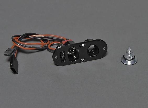 RX переключатель с зарядки / разрядки Проверьте напряжение порта и заливной горловины топливного бака