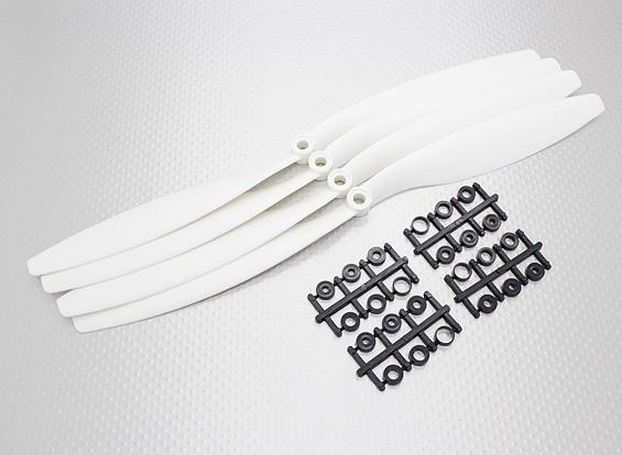 Turnigy ™ Slowfly пропеллер 12x4.5 Белый (КОО) (4шт)