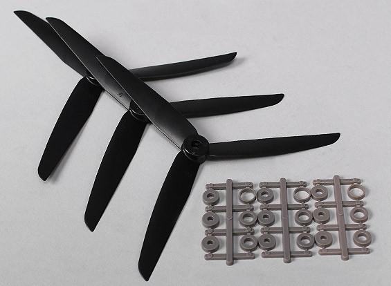 Hobbyking ™ 3-лопастной пропеллер 7x3.5 Black (CW) (3шт)