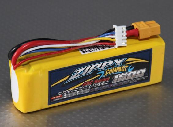 ZIPPY Компактный 1600mAh 4S 25C Lipo обновления
