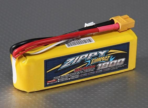 ZIPPY Компактный 1800mAh 3S 35C Lipo обновления