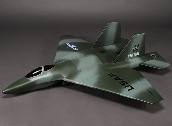 Огонь Phoenix 90мм Стекловолокно EDF Jet 1100мм (зеленый / серый) (АРФ)