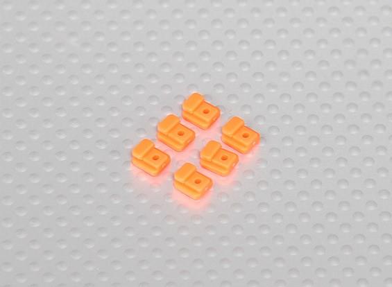 Servo Маунт Вкладки для вертолетного рамы (6шт / мешок) - Orange