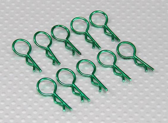 Клипы среднего кольца для тела (зеленый) (10шт)