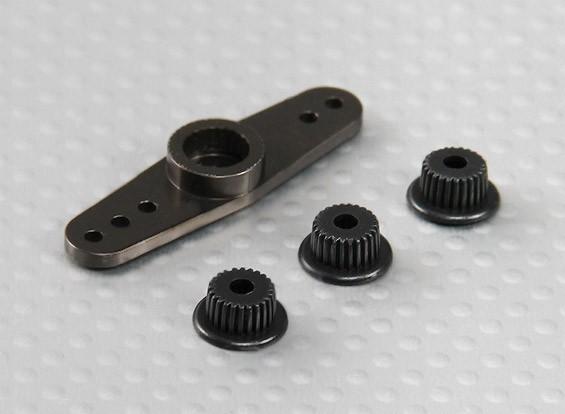 Универсальный алюминиевый Двухсторонний Servo Arm - JR, Futaba & HITEC (Gunmetal)