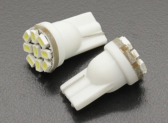 Мозоли СИД Свет 12V 1.35W (9 LED) - белый (2 шт)