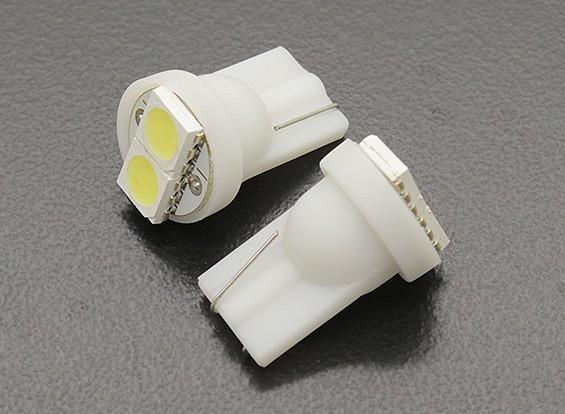 Мозоли СИД Свет 12V 0.4W (2 LED) - белый (2 шт)