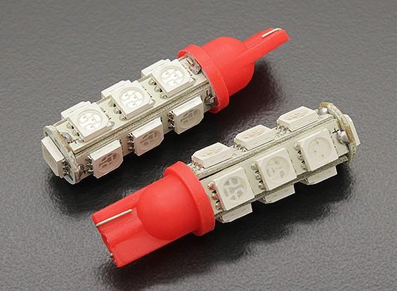 Мозоли СИД Свет 12V 2.6W (13 LED) - красный (2 шт)