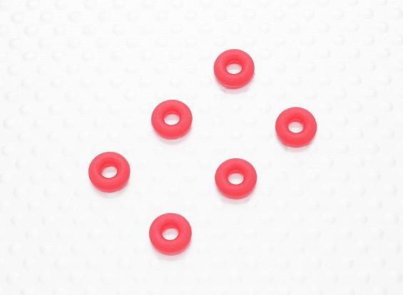 Ударная уплотнительное кольцо - Нижняя (6шт / мешок) - 1/10 Quanum Вандал 4WD Гонки Багги