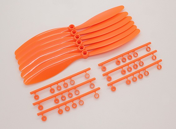 GWS EP Счетчик Вращающийся гребной винт (RH-8060 203x152mm) Оранжевый (6 шт / комплект)