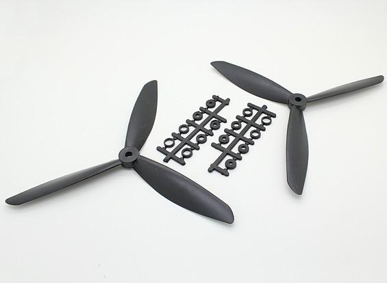 Hobbyking ™ 3-лопастной пропеллер 8x4.5 Black (CW / CCW) (2 шт)