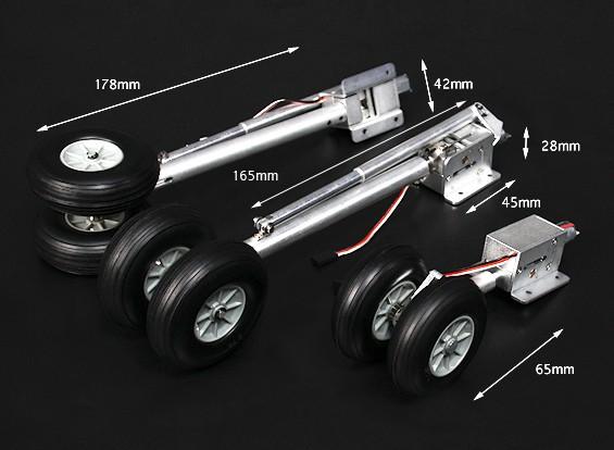 TURNIGY Full Metal Servoless Scale Авиалайнер Ретракты ж / Oleo ноги (1.20 Класс Q400)