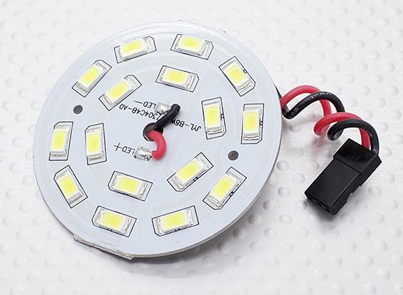Белый 16 светодиодные табло с круглыми световыми Lead