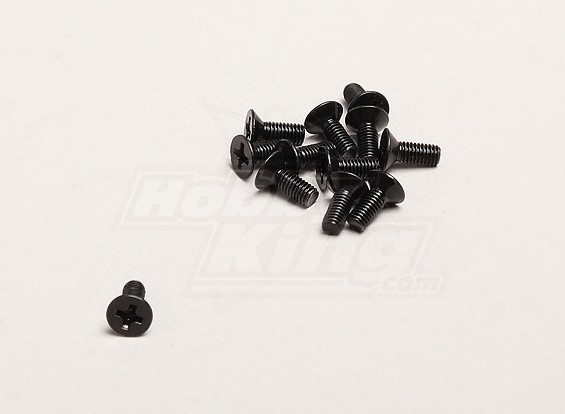 3x8mm Flat Head Крест Винт (12шт / мешок) - Turnigy Trailblazer 1/8, XB и XT 1/5