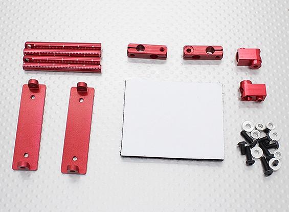 1/10 автомобиля алюминиевый CNC Тело Shell Монтажный набор (красный)