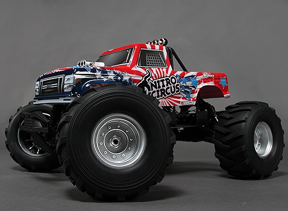 Башер Реактивные клоуны 1/8 Шкала 4WD Monster Truck ж / 2.4Ghz радио (РТР)